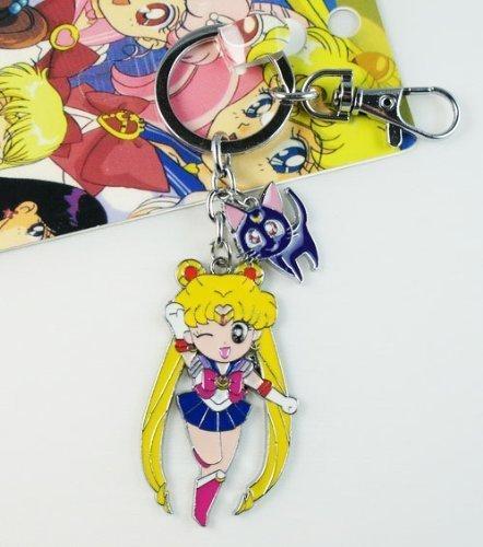 Sailor Moon Tsukino Usagi with cat Key chain Keyring keychain