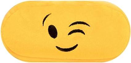 qingsb - Estuche para lápices de dibujos animados con emoji de felpa, bolsa de papelería para estudiantes, color 9#: Amazon.es: Oficina y papelería
