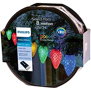 Philips 80ct Christmas LED Spool 8 Function Faceted C9 ...