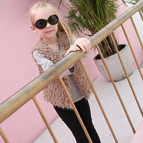 Weste starker Faux Pelz Herbst Kind Khaki warme Omiky® Winter Baby Kleidung Mantel Outwear xfqcRB