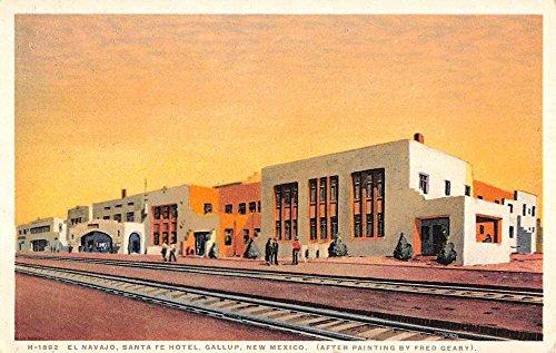 Gallup New Mexico El Navajo Santa Fe Hotel Antique Postcard K57068