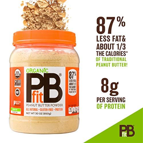 PBfit All-Natural Organic Peanut Butter Powder, Powdered Peanut Spread from Real Roasted Pressed Peanuts, 8g of Protein (30 oz.) 2