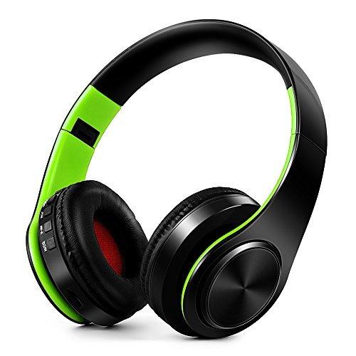 Docooler Wireless BT 4.0 Headphones MP3 Player TF Card FM Radio 3.5mm Wired Earphone Hands-free w/ Mic