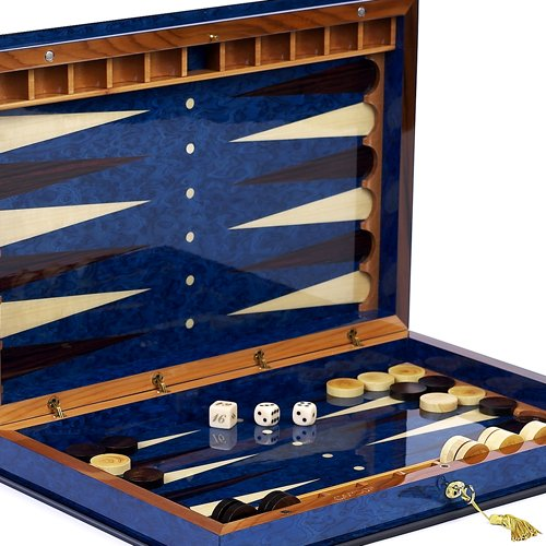 Bello Games Collezioni - Giovanni Luxury Wooden Backgammon Set From Italy 26