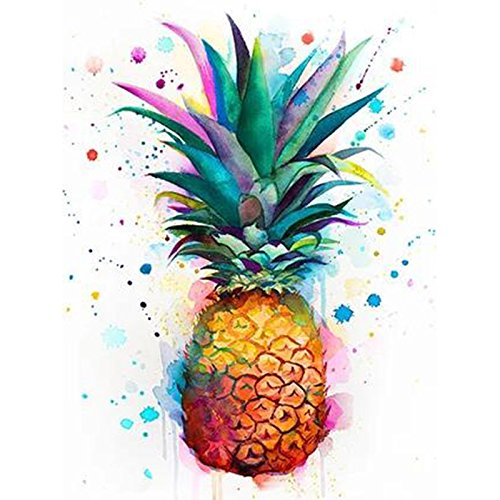 24x34cm Full Square Drill 5D DIY Cross Stitch Diamond Painting Pineapple 3D Embroidery Fruit Rhinestone Mosaic Decor Paintings