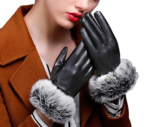 番目柔和ファンブルSnoneレディース 手袋 レザー 手袋 冬保温 暖かいアウトドア スマホ操作可能 タッチパネル グローブ