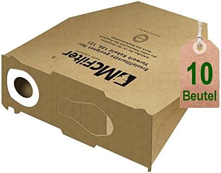10 bolsas de bolsas de aspiradora para Vorwerk Kobold VK 130, Kobold VK 131 y 131 SC: Amazon.es: Hogar