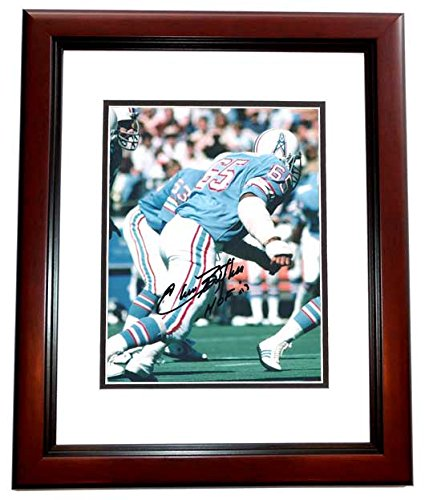 Elvin Bethea Signed - Autographed Houston Oilers 8x10 inch Photo MAHOGANY CUSTOM FRAME - Hall of Famer