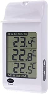 Brannan Digital Max Min Greenhouse Thermometer - Greenhouse Temperature Monitor to Measure Hi and Lo Temperatures In Greenhouse Garden or Home - Easily Wall Mounted Greenhouse Accessories