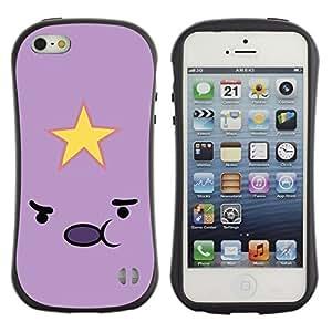 Paccase / Suave TPU GEL Caso Carcasa de Protección Funda para - Emoticon Pink Yellow Face Cartoon - Apple Iphone 5 / 5S