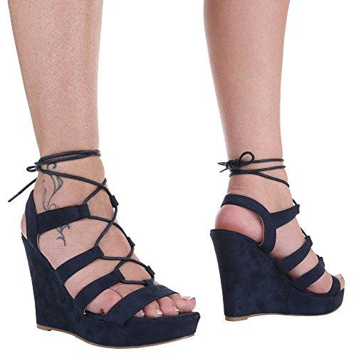 Ital-Design - Sandalias / Sandalias Mujer Azul - azul oscuro