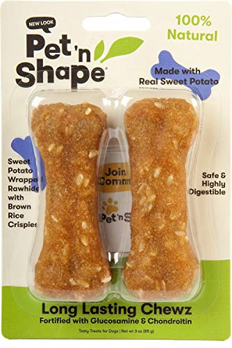 Pet 'n Shape Sweet Potato Chewz for Dogs, 4 Inch Bone, 2 Count, 12 Pack (Shape Potato Sweet)