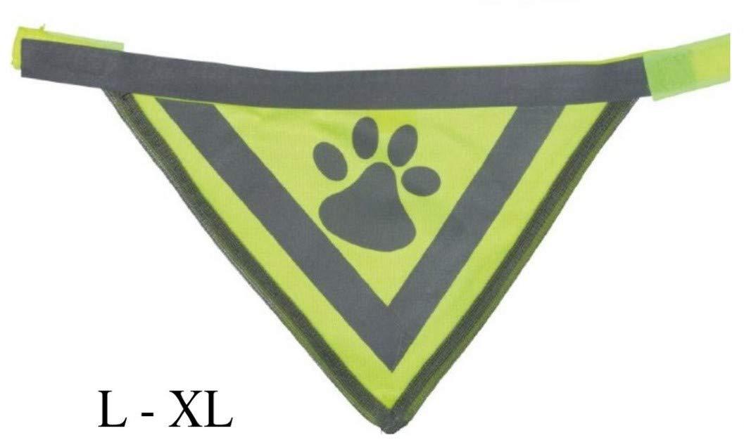 Dog Safety Hi Vis Viz High Visibility Reflective Neon Yellow Bandana Neckerchief XSmall - Small