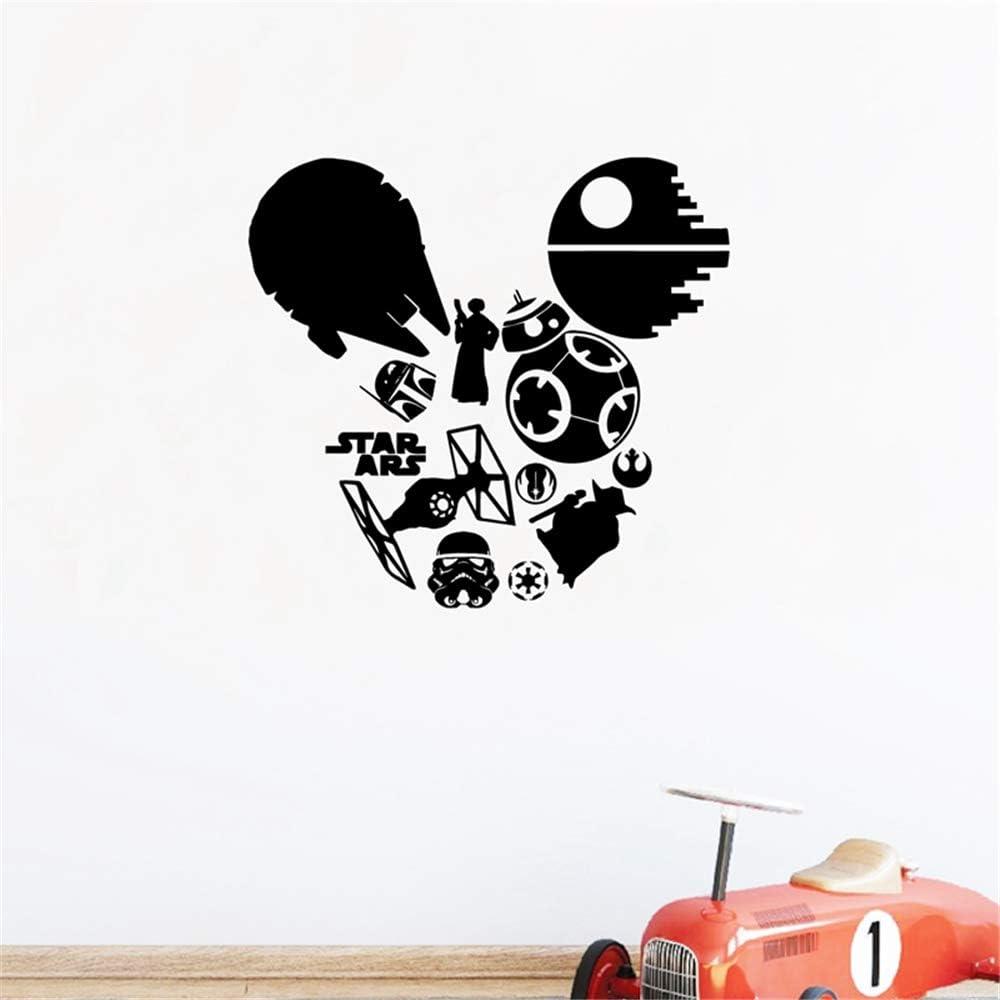 Mickey Minnie Mouse Wall Art Decal Sticker Star Wars Silueta ...