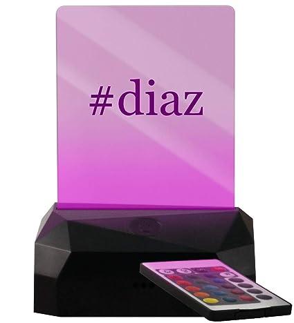 Amazon.com: #Diaz Hashtag - Cartel con luz LED recargable ...