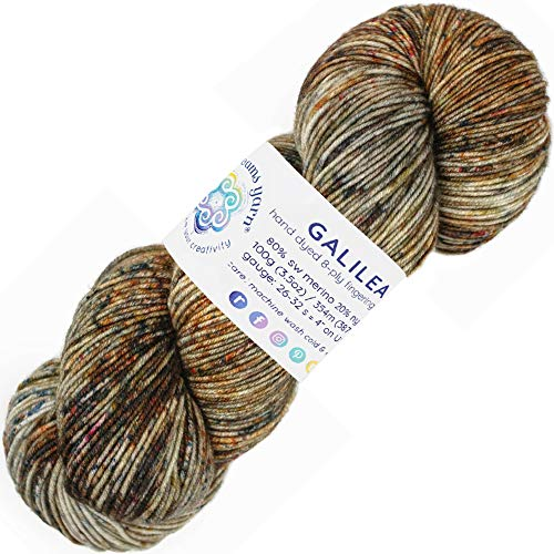 Living Dreams Yarn Galilea. Colorful Superwash Merino Sock Yarn. Super Soft and Strong. Hand Dyed to Perfection: Sirius ()