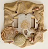 Seashell Nautical Double Switch Plate Cover