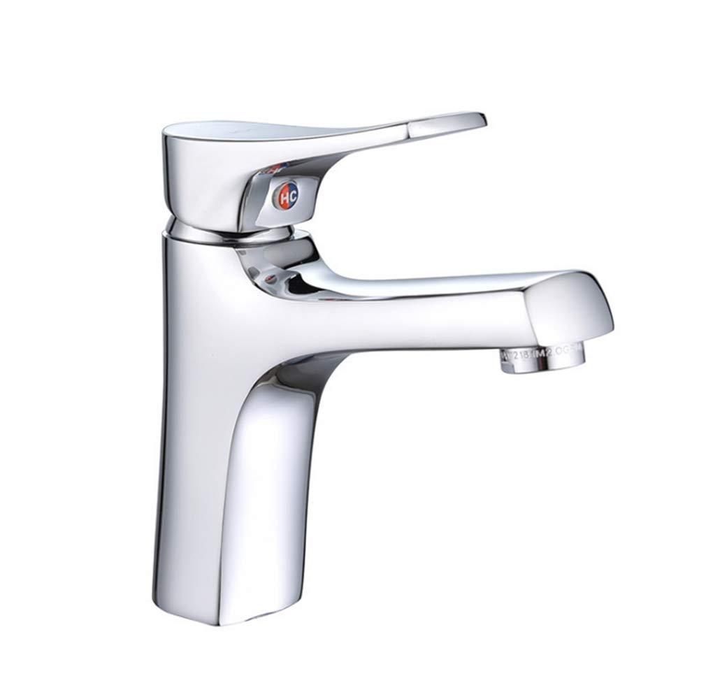 Küchenarmaturen Wasserhahn Moderne Küche Spüle Wasserhahn Edelstahl Kalt- und Warmwasserbecken Wasserhahn Badezimmer Waschbecken Einlochmontage