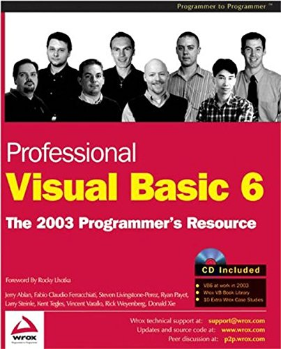 Professional Visual Basic 6: The 2003 Programmer's Resource