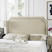 Safavieh Shayne Hemp Linen Upholstered - Silver Nailhead (Full)