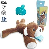 Compra UDS Baby Pacifier Holder,Detachable Stuffed Animal Soothie Holder Soft (Bear) en Usame