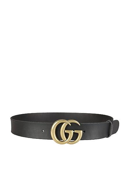 codice promozionale cb1c3 571b1 Gucci Cintura Donna 409416CVE0T1000 Pelle Nero: Amazon.it ...