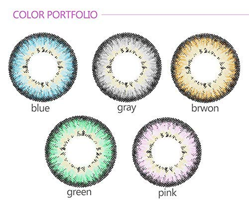 WQFXYZ Women Multi-Color Contact Lenses Cosplay Eyes Cute Charm and Attractive Fashion Eye Accessories Cosmetic Makeup Eye Shadow (Gray)