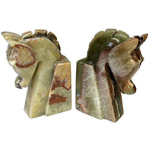 Onyx Horse Head Bookends - 7