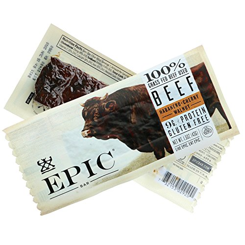 Epic All Natural Meat Bar, 100% Grass Fed, Beef, Habanero & Cherry, 1.5 ounce bar by Epic Provisions (Image #3)
