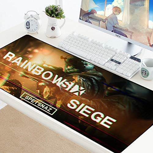 sasdasld Large Mousepad Gaming Rubber Cloth Gamer Mouse Pad Rainbow Six Siege Anti-slipDesk Mat for Computer Laptop Notebook-300x800mm