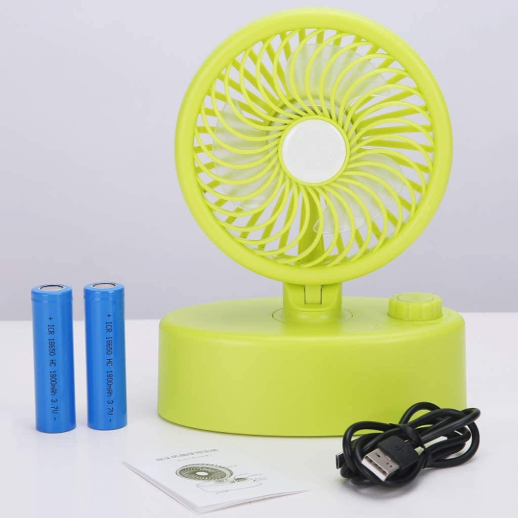 USB Automatic Shaking Head Small Fan Devil A+ Color : Black Mini Portable Rechargeable Household Outdoor with Battery//Lithium Battery Dual-use