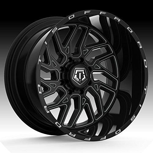 TIS 544BM Black Milled 20x12 8x170 -44mm (544BM-2128744) (Best Off Road Rims)