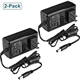 DC 12V 2A Power Supply Adapter,12Volt 2Amp Power Adapter Charger,AC 100-240V to DC 12V 2A Transformers,DC Connector Jack 5.5x2.1mm US Plug (2-Pack)