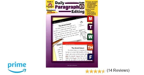 Amazon.com: Daily Paragraph Editing, Grade 3 (0023472027269): Evan ...