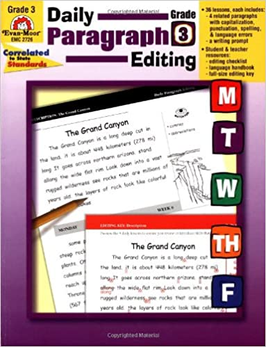 Amazon.com: Daily Paragraph Editing, Grade 3 (0023472027269): Evan ...