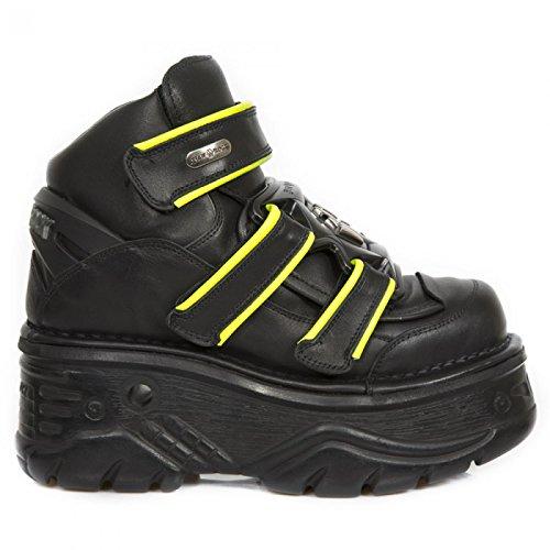 New Rock Boots M.1078-s1 Gotico Hardrock Punk Unisex Stiefelette Schwarz