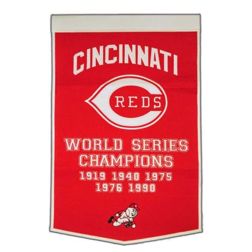 Cincinnati Reds World Series Championship Dynasty Banner - with hanging rod ()