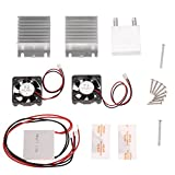 KKmoon DIY Kit Thermoelectric Peltier Cooler Refrigeration Cooling System Heat Sink Conduction Module + 2 Fans + 2 TEC1-12706