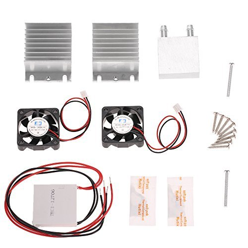 KKmoon DIY Kit Thermoelectric Peltier Cooler Refrigeration Cooling System Heat Sink Conduction Module + 2 Fans + 2 TEC1-12706