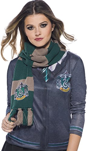 Harry Potter Deluxe Slytherin Scarf, One size and Unisex, by Rubie's Costume Company 39034 -
