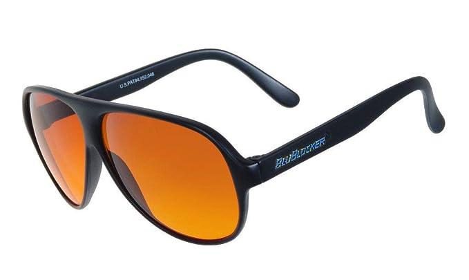d532e52edf Amazon.com  Polarized Black Aviator BluBlocker Sunglasses - 0406K ...