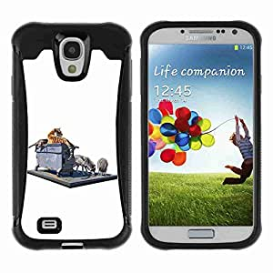 A-type Arte & diseño Anti-Slip Shockproof TPU Fundas Cover Cubre Case para Samsung Galaxy S4 IV (I9500 / I9505 / I9505G) / SGH-i337 ( Tiger & Wolf On The Street )