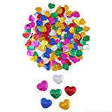 MRxcff 15G Colors Happy Birthday Heart Stars Confetti Wedding Party Scatters Table Decoration Age Birthday Party Wedding Decor Supplies About 300Pc 15 G