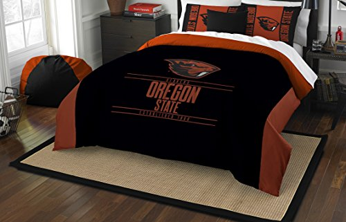 The Northwest Company Officially Licensed NCAA Oregon State Beavers Modern Take Full/Queen Comforter and 2 Sham Set - Oregon State Basketball