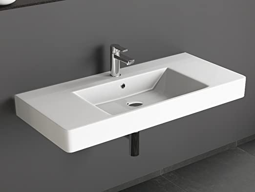 Waschbecken Mineralguss Gussmarmor Aufsatz Design Top Waschtisch 1