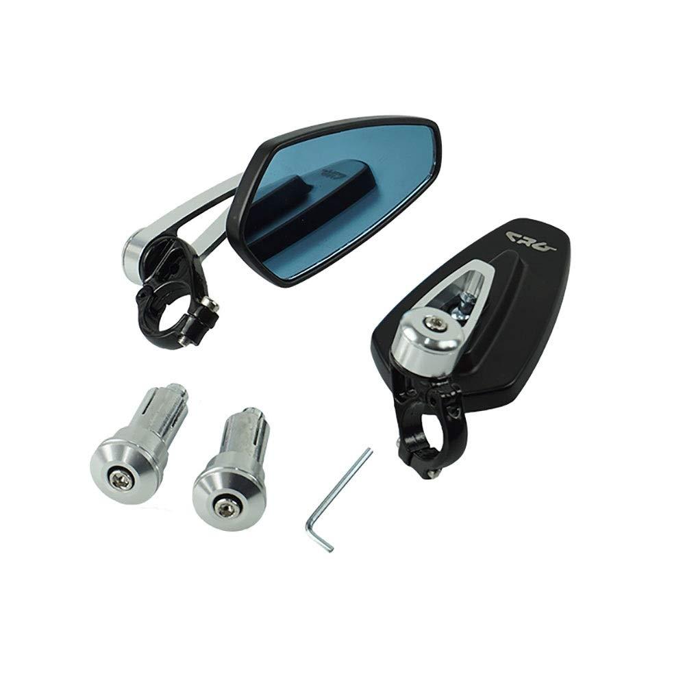 ANNFENG Spare Ricambi per moto di ricambio universali Ricambi 7//822mm Vista posteriore in alluminio per moto Manubrio nero Specchi retrovisori laterali Colore : Argento
