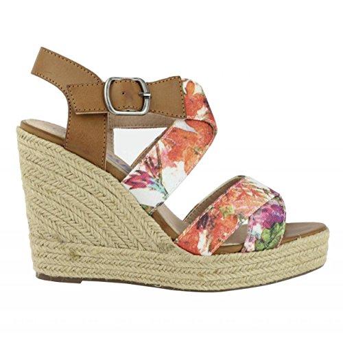 Chaussures compensées pour Femme REFRESH 61847 TEX CORAL