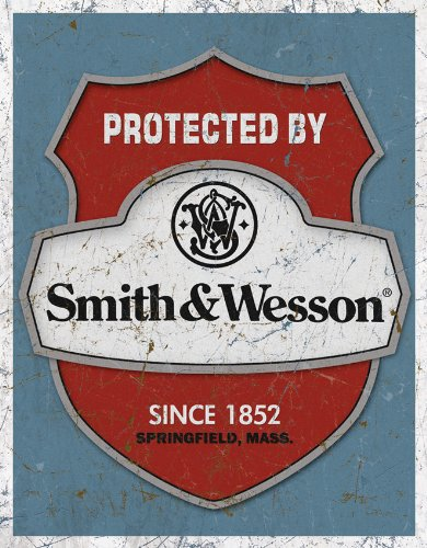 Tin Signs TSN1682-BRK Protected By S&W