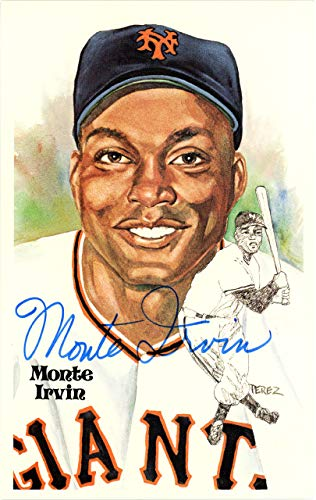 Monte Irvin Autographed Signed 1981 Perez Steele HOF Postcard #137 New York Giants Certified Authentic