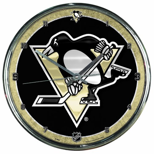 NHL Pittsburgh Penguins Chrome Clock, 12